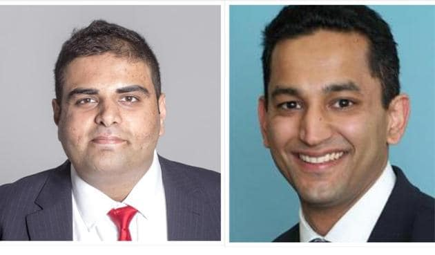 Labour's Navendu Mishra (left); Conservative Gagan Mohindra (right), are likely to win the December 12 election and join the growing number of British Indian MPs in the House of Commons.(SOURCED PHOTOS.)