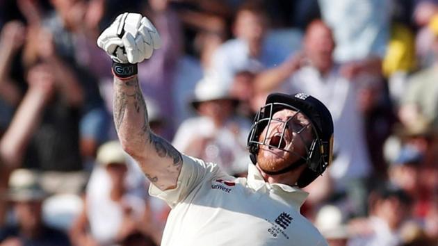 File image: Ben Stokes celebrates as England win Headingley Test.(Action Images via Reuters)