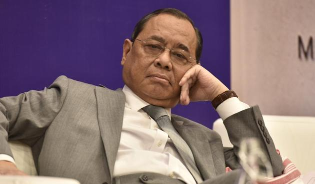 Former Chief Justice of India Ranjan Gogoi at the India International Centre, New Delhi, November 3, 2019(Sanjeev Verma/HT PHOTO)