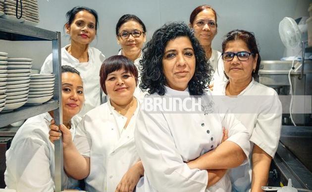 (Clockwise from far left) Rashmi Raut from Mumbai, Uma Gurung from Kathmandu, Shanta Awale from Bijapur, Kalpana Kunder from Mumbai, Asma Khan from Kolkata/Aligarh, Asha Pradhan from Darjeeling and Anita Gurung from Kathmandu(Rohit Chawla)