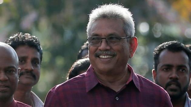 Sri Lanka People's Front party Gotabaya Rajapaksa wins presidential polls.(REUTERS Photo)