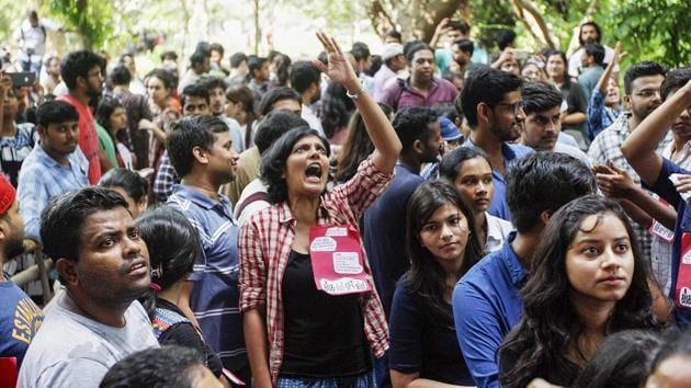JNUSU has appealed to students of other universities to join its march to Parliament on Monday. (Representational image)(PTI file)