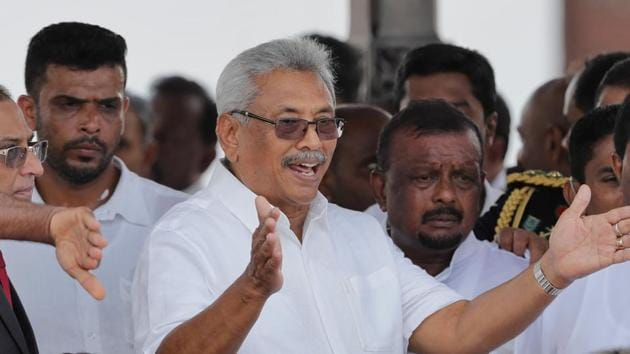 Gotabaya Rajapaksa was the defence secretary – during his elder brother's presidency – at the end of the civil war with Tamil rebels.(AP Photo)