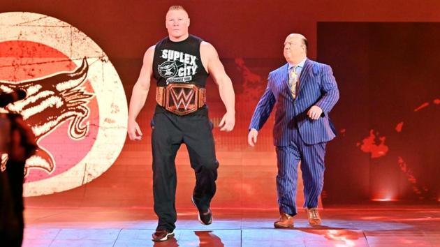 Brock Lesnar and his advocate Paul Heyman.(WWE)