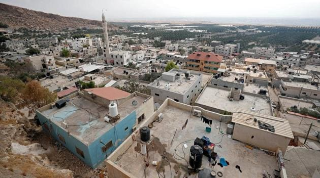 Palestinian houses and buildings in Jordan Valley in the Israeli-occupied West Bank.(REUTERS Photo)