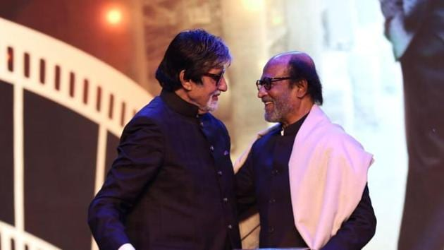 IFFI 2019 opening ceremony highlights: Rajinikanth and Amitabh Bachchan bond on stage.