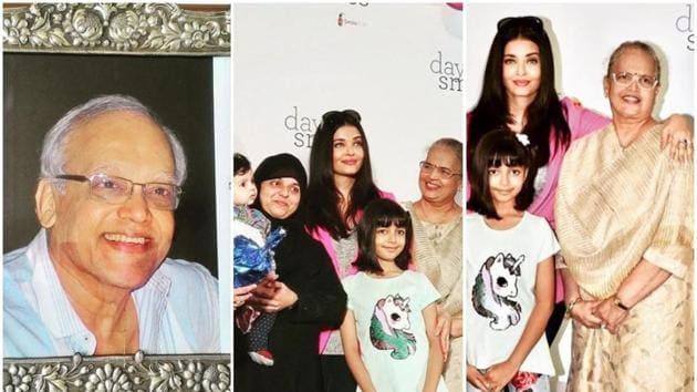 Aishwarya Rai with Aaradhya Bachchan and Vrinda Rai in Mumbai.(Instagram)