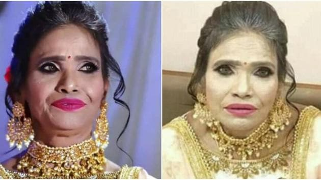 The viral picture of a heavily decked-up Ranu Mondal has been revealed to be a fake.