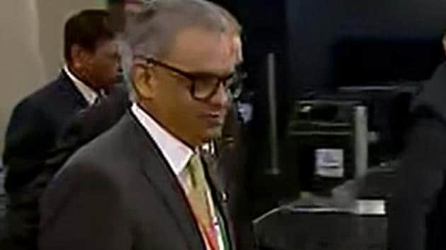 """""""The terror-crime nexus is an existential global threat, the contours of which are mutating everyday,"""" Syed Akbaruddin, India's permanent envoy to the UN said at a high-level meeting of the UN and Shanghai Cooperation Organization (SCO) on Tuesday.(ANI Photo)"""