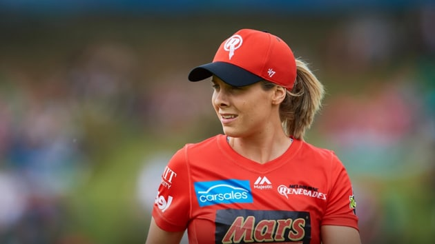 Sophie Molineux while playing for Melbourne Renegades in the Women's Big Bash League.(Twitter)