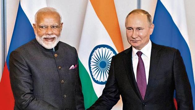 Prime Minister Narendra Modi's September visit to Vladivostok for the Eastern Economic Forum, where he met Russian President Vladimir Putin, signals India's interest in the Far East.(Reuters image)