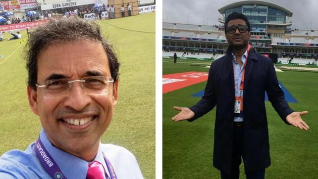 Harsha Bhogle and Sanjay Manjrekar.(Twitter/HT Collage)