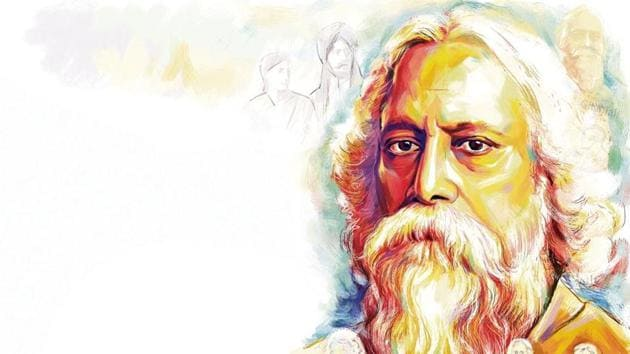 Rabindranath Tagore participated in the nationalist movement and shared a close bonding with Mahatma Gandhi.(ILLUSTRATION: Biswajit Debnath)