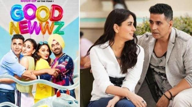 Good Newwz stars Akshay Kumar, Kareena Kapoor, Kiara Advani and Diljit Dosanjh in lead roles.