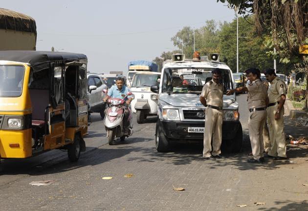 The accident spot where 25-year-old Ekta Kothawade was killed at Pune-Satara road near Katraj zoo.(Rahul Raut/HT PHOTO)