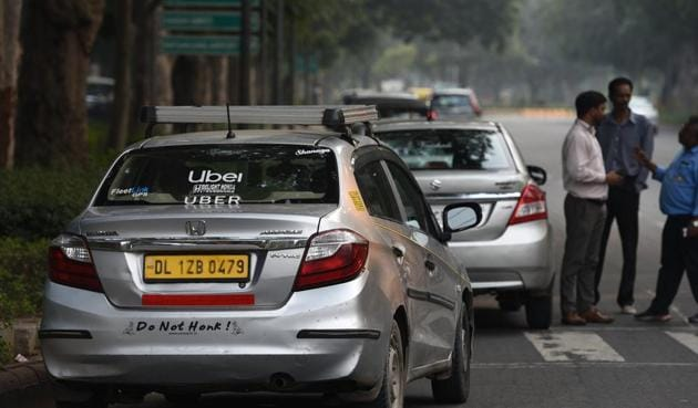 India has two major players — Uber and Ola, with SoftBank again having large shares in both the entities. What if SoftBank asks one of them to wind up its operations, thus giving the country just one option (there are other smaller players but they are small fry)?(Vipin Kumar/HT PHOTO)