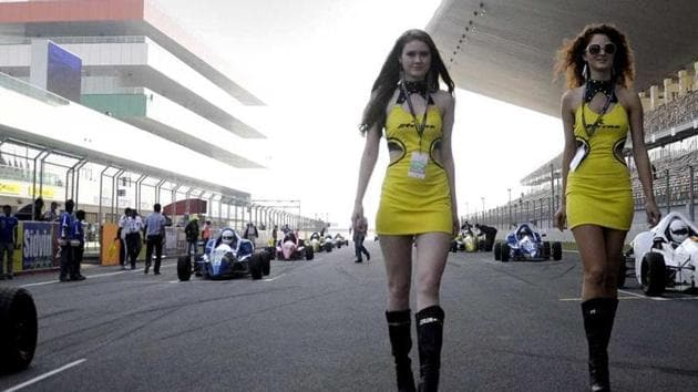 Scenes from the JK Tyre Festival of Speed held at the Buddh International Circuit in New Delhi.(HT Photo/Saarthak Aurora)