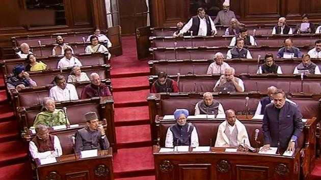 Opposition, led by the Congress, is likely to raise the issue of government formation in Maharashtra in both the Houses of Parliament on Monday.(PTI)