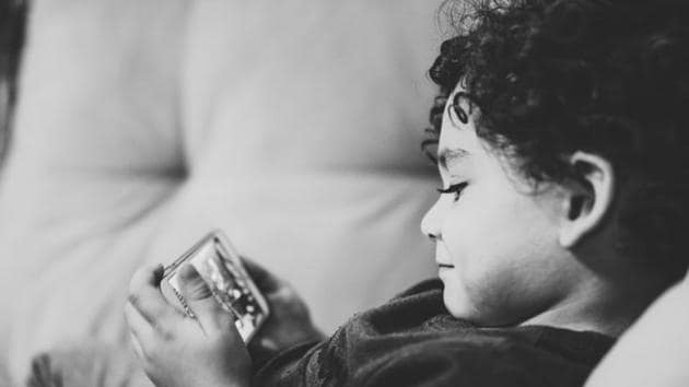 According to the researchers, by age 8, children in US were more likely to log the highest amount of screen time if they had been in home-based childcare or were born to first-time mothers.(Unsplash)