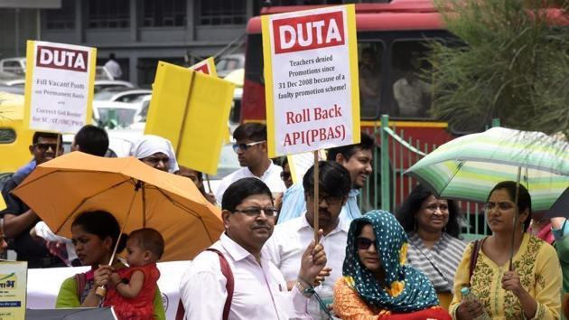 Delhi University Teachers' Association called for an evolution boycott and indefinite strike from January. (Representational image)(HT file)