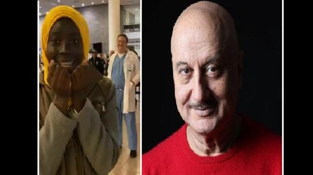 The video posted by Anupam Kher acquired more than 1.3 lakh views.(Twitter/ Anupam Kher)