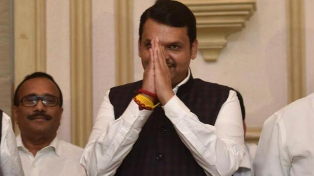 Devendra Fadnavis resigns as Maharashtra CM(Satish Bate/HT Photo)