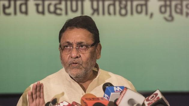 NCP spokesperson Nawab Malik(Satyabrata Tripathy/HT Photo)