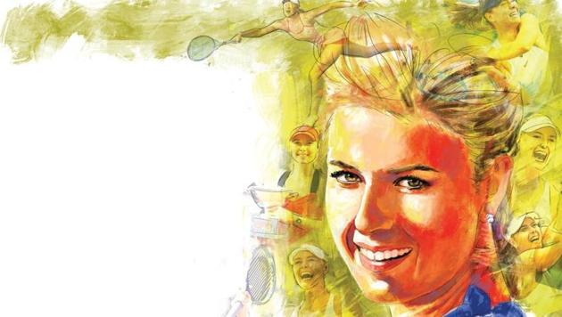Maria Sharapova made her debut in professional tennis at the Pacific Life Open and reached the second round in which she lost to Monica Seles.(ILLUSTRATION: Mohit Suneja)