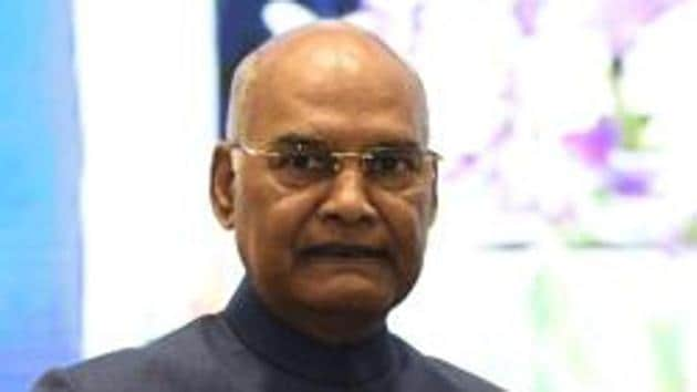 """Everyone should follow """"constitutional morality"""" and constitutionally-mandated procedures regardless of any """"ideological differences"""", said President Kovind.(Vipin Kumar/HT photo)"""