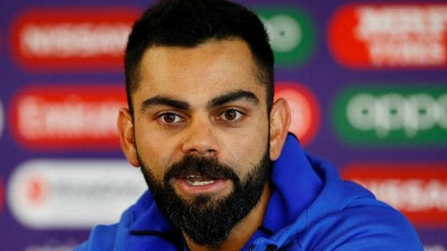 India's Virat Kohli during the press conference.(Action Images via Reuters)