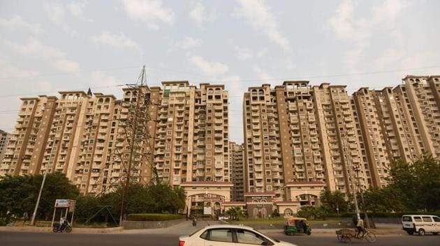 A view of Amrapali Group's Silicon City, at Sector 76, in Noida, on Monday, November 25, 2019.(Virendra Singh Gosain/HT PHOTO)