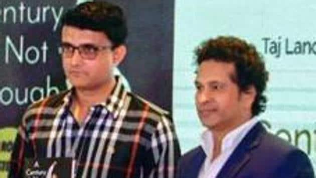 A file photo of Sourav Ganguly and Sachin Tendulkar.(PTI)