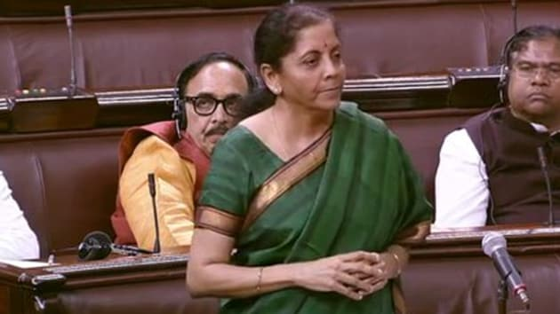 The finance minister told the Rajya Sabha today that the country's economic growth may be down but it is not a situation of recession yet.(Photo: ANI/ Screengrab)
