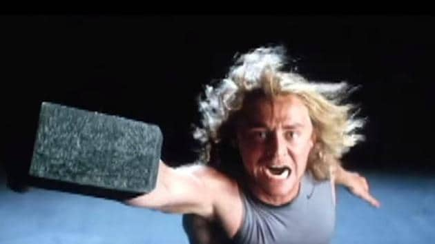Tom Hiddleston in a screengrab from his Thor audition.