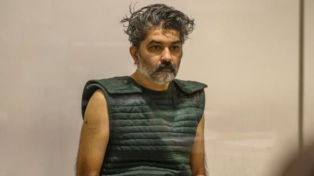 Shankar Hangud, wearing a personal safety vest, appears in the Placer County Superior Court in Roseville, California.(AP file photo)