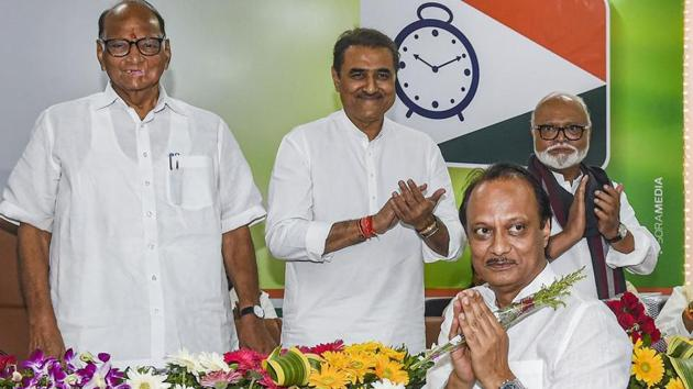 On Saturday morning, Ajit Pawar, 60, elected legislative party leader of the Nationalist Congress Party, surprised everyone by allying with Fadnavis to form a BJP-NCP government in the state.(PTI)
