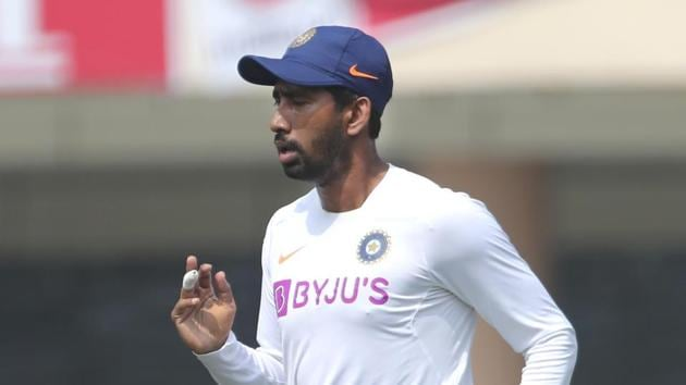 File image of India cricketer Wriddhiman Saha.(AP)