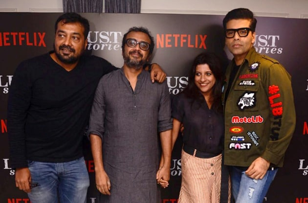 Karan Johar, Anurag Kashyap, Zoya Akhtar and Dibakar Banerjee will collaborate on Netflix anthology Ghost Stories.(Viral Bhayani)