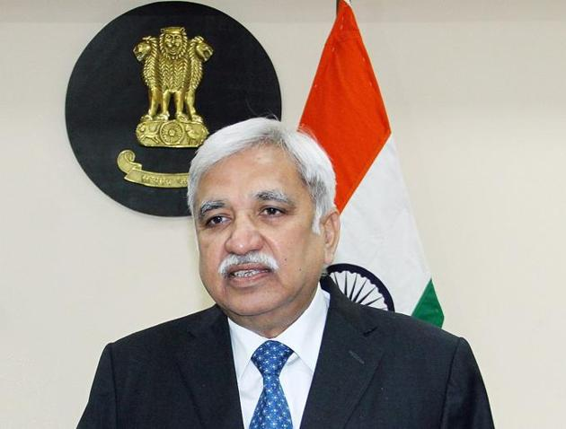 Chief election commissioner Sunil Arora is an alumnus of Panjab University, Chandigarh.(File photo)