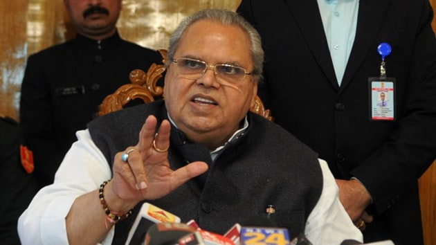 Goa Governor Satya Pal Malik, who till recently was the Governor of Jammu and Kashmir, on Thursday said that he still suffers from a Kashmir hangover.(HT Photo)