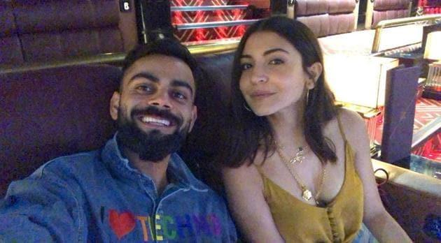 Virat Kohli and Anushka Sharma watch a movie in Mumbai.