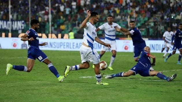 Chennaiyin FC and Odisha FC shared the spoils after a thrilling Hero Indian Super League encounter finished 2-2.(Twitter)