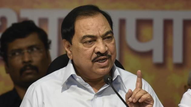 Khadse expressed his disapproval of Fadnavis's decision to align with Ajit Pawar.(Hindustan Times)