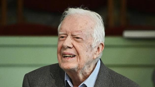 Former US president Jimmy Carter was released from hospital after undergoing a brain surgery.(AP Photo)