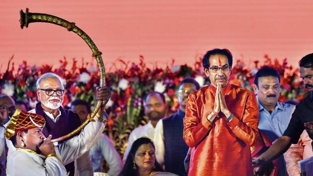 Maharashtra CM Uddhav Balasaheb Thackeray during the oath-taking ceremony.(PTI)