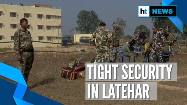 Security has been tightened in Latehar ahead of Jharkhand Assembly elections. Latehar is one of the 13 constituencies that will vote in the first phase of polls. All 13 constituencies fall under Naxal-infested area. Latehar district has two assembly constituencies - Manika and Latehar. Jharkhand assembly polls will be held in five phases starting November 30. The counting of votes for all 81 constituencies is scheduled on December 23.