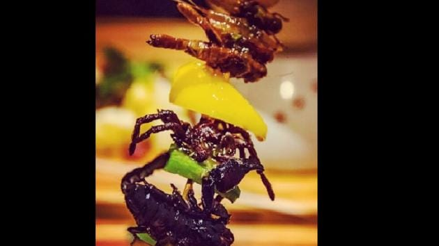 Cambodia's first insect tapas restaurant is mixing cocktail culture with creepy crawler fare.(Instagram/@Bugs cafe)