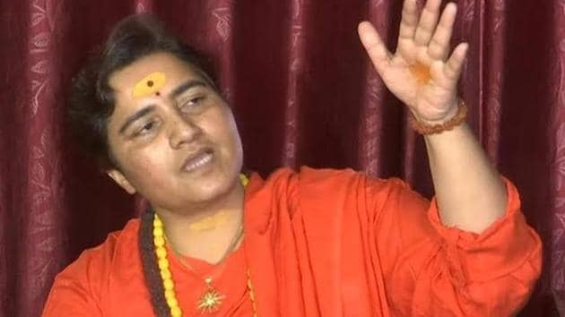 Pragya Thakur's remarks on Godse weren't her first acquaintance with controversy in the run-up to the elections.In April , she claimed that former Mumbai anti-terrorist squad chief Hemant Karkare had died in the 26/11 Mumbai terrorist attacks because she put a curse on him(HT File)