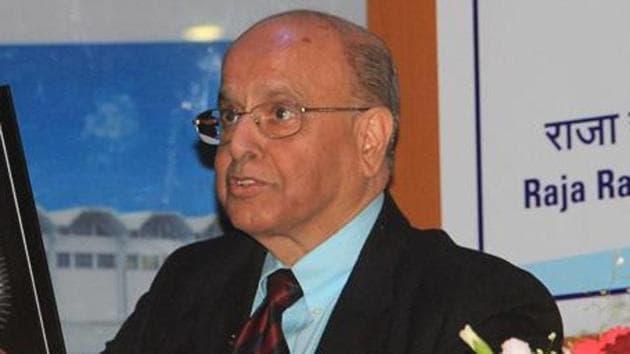 Former ISRO Chief K Kasturirangan.(HT file)