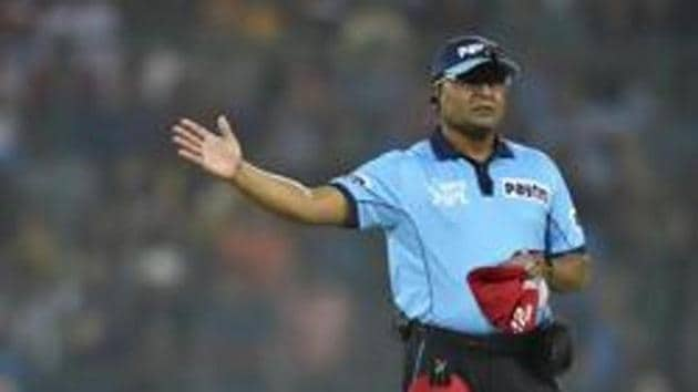 New Delhi: Umpire giving a no ball signal during an Indian Premier League (IPL T20 2019) cricket match.(PTI)